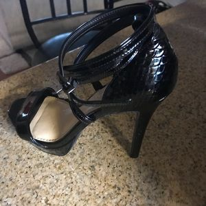 Gianni Bini Patent Leather Strappy Ankle Heels